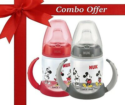 NUK Mickey & Minnie First Choice 150ml Learner Cup (Pack of 2 Red & Black)