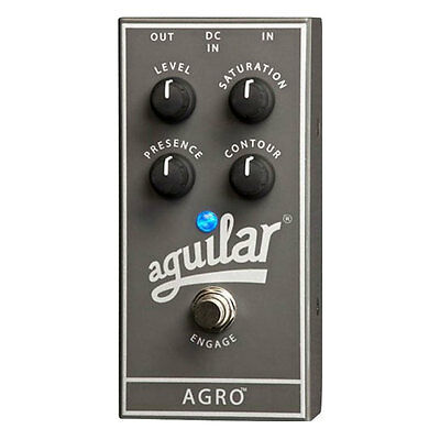 Aguilar AGRO Overdrive Bass Guitar Effects Pedal - NEW - FREE Priority Shipping