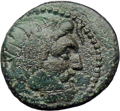 Amphipolis in Macedonia 187BC Rare Ancient Greek Coin Poseidon Horse i30512