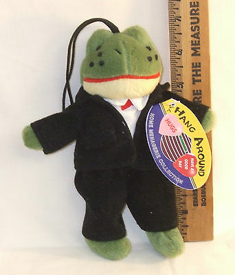 "Hang Around, Home Menagerie Collection Jean Luc the Frog Stuffed 7"" tall 1997"