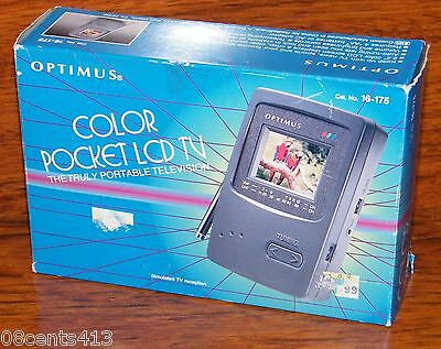 Vintage Optimus 2.2'' Auto-Tune Color Pocket LCD TV Portable Television New Box