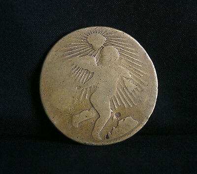1/4 Real 1863 Mexico Brass World Coin KM366 Zacatecas Baby Angel RARE