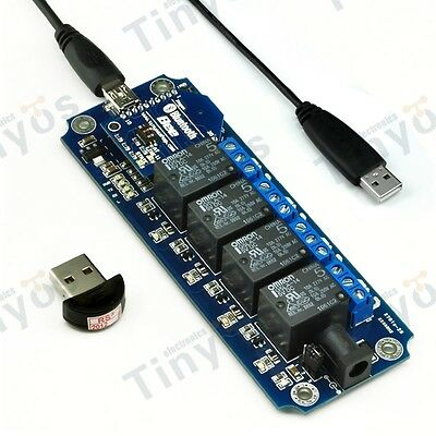 5V 4 Channel USB/Wireless Relay Module Bluetooth Remote Control Kit