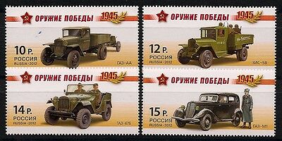 Russland Russia 2012 Weapons Of Victory ** Cars Track Old Timer