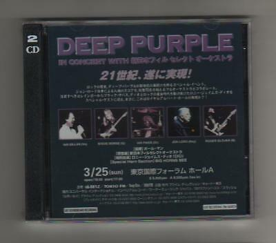 DEEP PURPLE LIVE IN CONCERT TOKYO 25-3-01with DIO 2CD