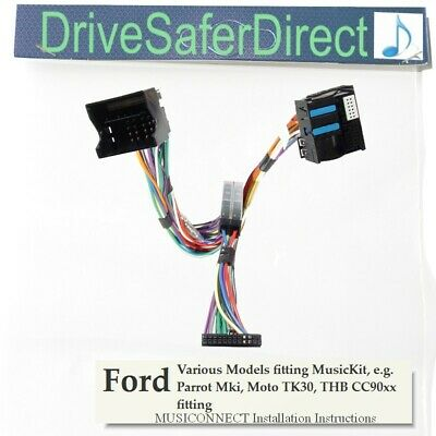 MC2082 MusiConnect non SOT Ford Focus music and AUX cable