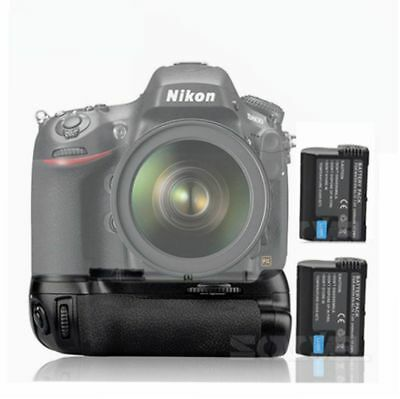 Vertical Battery Grip Pack for Nikon D800/D800E D810+ 2x EN-EL15 MB-D12 Camera