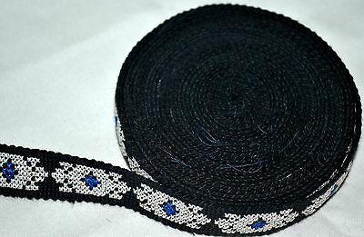 J8 Old Rare Vintage Handmade Silk Embroidered Antique Suzani Woven Trim Band