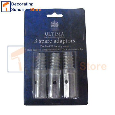 Harris ULTIMA Double Click Extension Pole Adapters (3 Pack) Double Click Spares