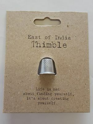 Sewing Thimble Vintage Style - East of India - Silver Sew Craft - Gift Card