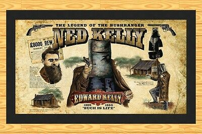 Ned Kelly 'such Is Life'   Bar Runner Mat