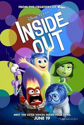 "Disney's Pixar INSIDE OUT 2015 Original Version B DS 2 Sided 27x40"" Movie Poster"