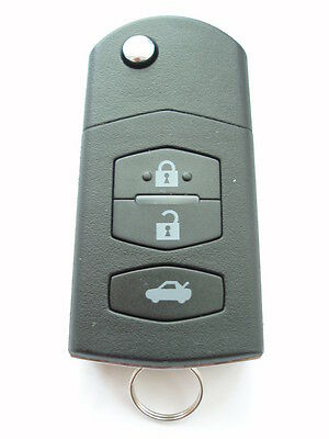 Replacement 3 Button Flip Key Case For Mazda 2 3 6 Mx5 Rx8 Remote Flip Key Fob