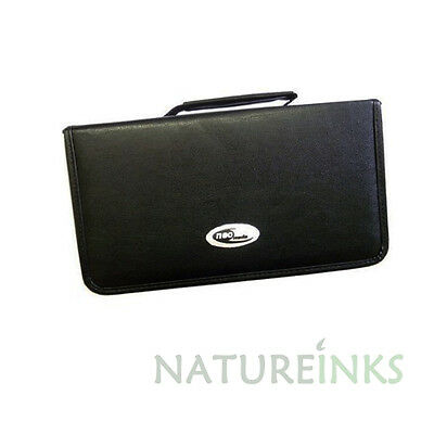 1 x Neo 120 Synthetic Leather CD DVD discs storage carry wallet strong zip