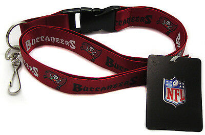 NFL Tampa Bay Buccaneers Lanyard Key Chain ID Strap Red