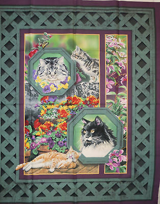 Cat Nap Wall Hanging or Quilt Panel by Springs Creative