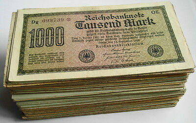 GERMANY REICHSBANKNOTE 1000 MARK 1922/sold as each