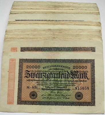 GERMANY REICHSBANKNOTE 20000 MARK 1923/sold as each