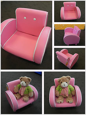 Pink Fusion Retro Single Seat Sofa Chair /Children's Couch FREE POST TO SYDNEY