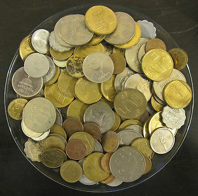 Lot 1 Pound / Libra / 454 Grams Of Mixed Old Israel Coins Free Shipping