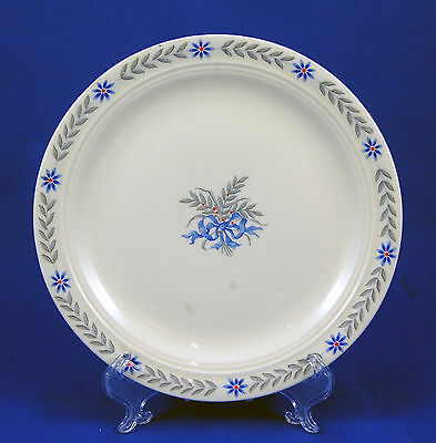 Steubenville SANDRA 3032 Salad Plate 7.25 in. Blue Flowers Ribbon Gray Leaves