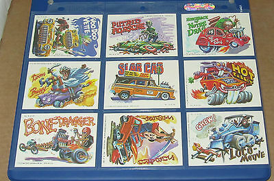 WEIRD WHEELS COMPLETE STICKER SET 1-55 IN NM/MT CONDITION