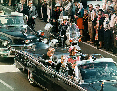 Jacqueline Kennedy Onassis JFK Kennedy car assassination PHOTO 8x10 PICTURE