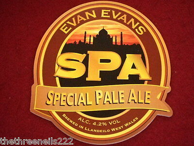 BEER PUMP CLIP - EVAN EVANS SPECIAL PALE ALE 4.2% Vol
