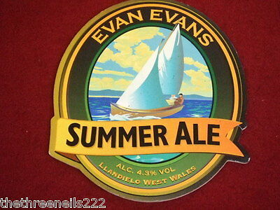 Beer Pump Clip - Evan Evans Summer Ale