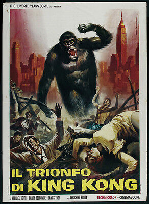 horror cult movie poster 24x31 inches approx. 1962 King Kong Vs Godzilla