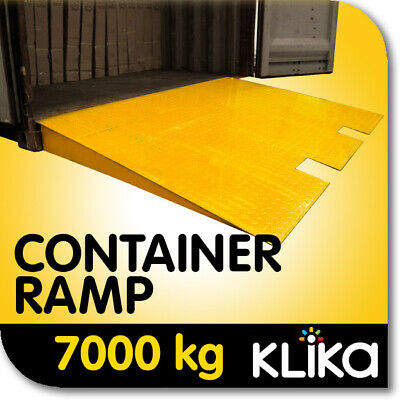 NEW 7000kg CARGO SHIPPING CONTAINER FORKLIFT LOADING RAMP STEEL 1.2M
