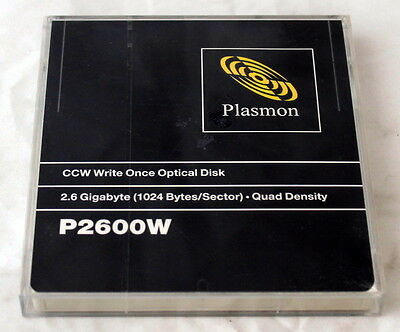 "2.6Gb Plasmon P2600W Ccw Write Once 5.25"" Optical Disk Quad Density Brand New!!!"