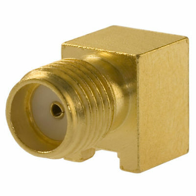 (9) Johnson 142-0711-301 50 Ohm Sma Connector Jack  Right Angle Receptacle Gold