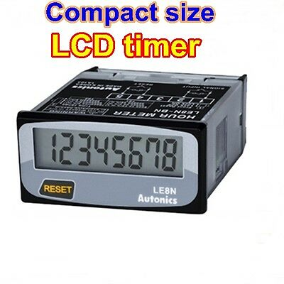 LCD Digital Timer Time Indicator LE8N-BN, No-voltage input , Run on battery