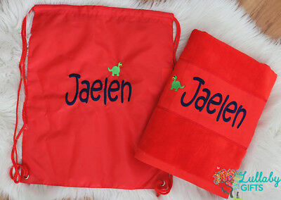 Personalised Towel ,Bag Set, Beach velour/terry towel,Swim bag,Personalised Gift