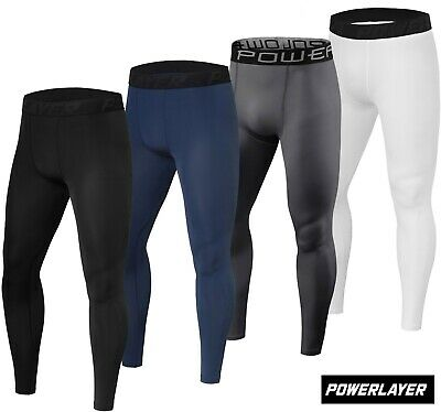 PowerLayer Mens Boys Compression Base Layer Leggings Bottoms Thermal Under Gear