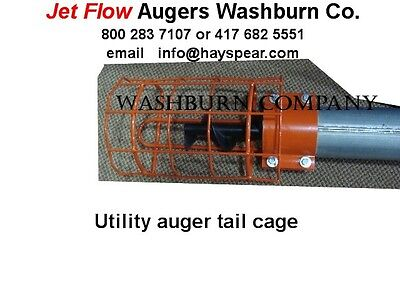 """Tail Cage For Utility Auger 4"""" Diameter Jet Flow"""