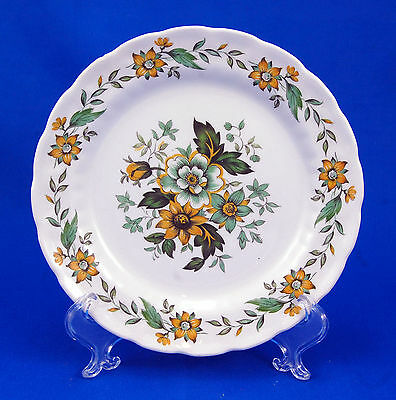 Ridgway SPRING GARDEN Bread and Butter Plate 6.125 in. Ironstone Yellow Flowers