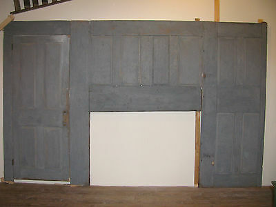 Antique Wooden Country Room End Kitchen Wall