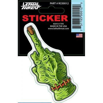 LETHAL THREAT Motorcycle Scooter Bike Board Decal Helmet Mini Sticker RC00012