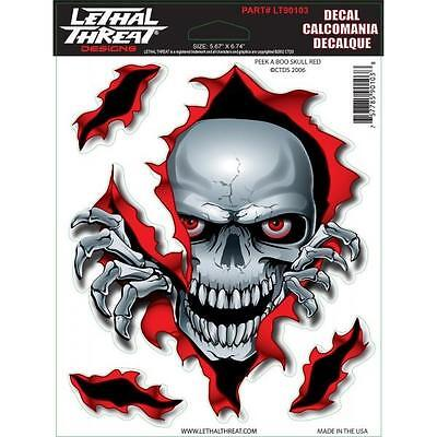 LETHAL THREAT Motorcycle Bike Board Car Scooter Decal Helmet Sticker LT90103