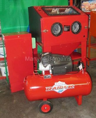 Sand Blasting Cabinet Ready Full Set Up,Ally Oxide,Air Compressor,Dust Extractor