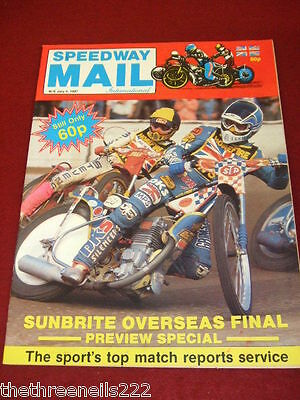 Smi - Speedway Mail International - Overseas Final Preview - July 4 1987