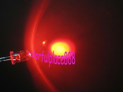 1000pcs, 5mm Red Self Flash Flashing LED Blink Water Clear Bright Leds Light New