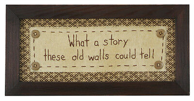 Stitcheries by Kathy Sign - What A Story These Old Walls Could Tell - 32x16cm