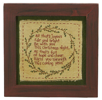 Stitcheries by Kathy Sign - All That's Joyous - Christmas Frame - 19.5 x 19.5cm