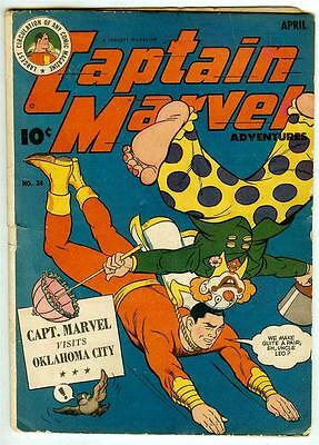 Captain Marvel Adventures #34 (Fawcett 1944 fn- 5.5) Guide value: $138.00 (£109)