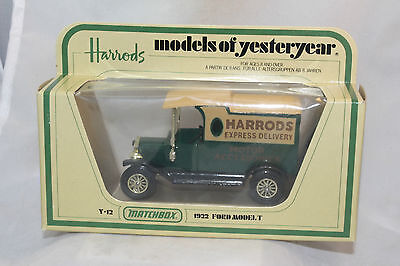 Matchbox Yesteryear #Y-12, 1912 Ford Model T Delivery, Harrods Express, NIB