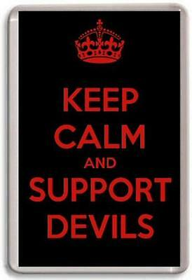 KEEP CALM AND SUPPORT DEVILS, CARDIFF DEVILS ICE HOCKY Fridge Magnet