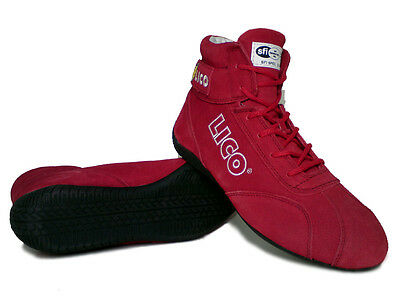 LICO by Sparco Low Fire shoes Karting/Racing Boots 38EUR 7US 6UK Color-Red